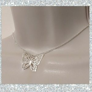🦋 Silver Butterfly Pendant Necklace 🦋
